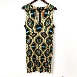 Tory Burch Silk Sleeveless V-Neck Dress